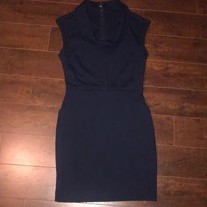 BANANA REPUBLIC BLUE COWL NECK DRESS